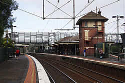 Footscray station signal box and footbridge.jpg