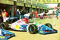 Footwork FA15 in the pits at the 1994 British Grand Prix (32500394006).jpg