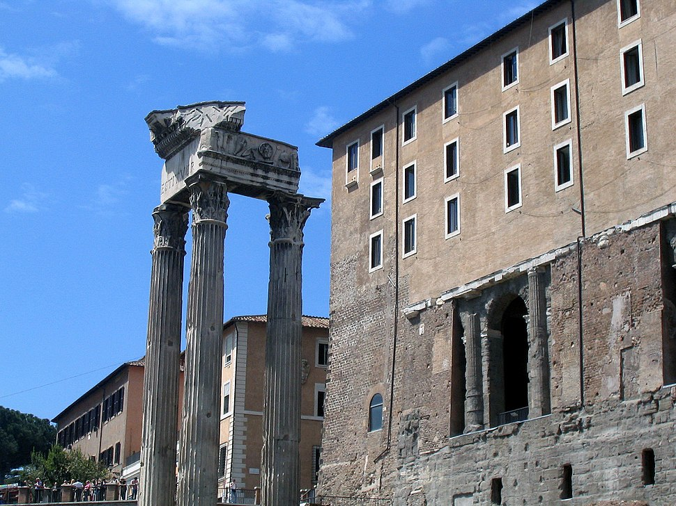 Forum temple of vespasian