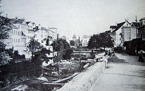 Zürich Underground Railway - In 1864 a steam railway was to be built in Fröschengraben