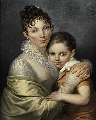 Académie Royale des Beaux-Arts - Image: François Joseph Navez (attr) Doppelbildnis Mutter und Sohn c 1820