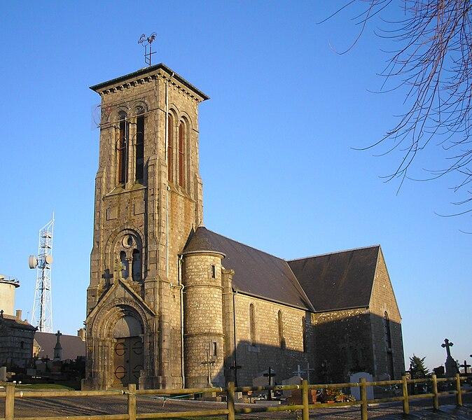 Chaulieu (Normandie, France). L'église de Saint-Martin-de-Chaulieu.