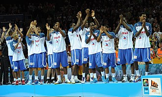 France national basketball team - France national team after winning silver medals in FIBA EuroBasket 2011.