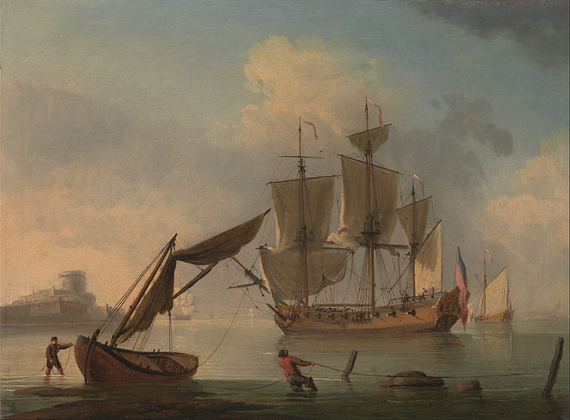 File:Francis Swaine - An English Sloop Becalmed near the Shore - Google Art Project.jpg
