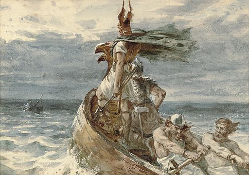 Frank Dicksee - Vikings Heading for Land