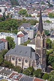 Frankfurt Am Main-Peterskirche-Ansicht vom Nextower-20110812