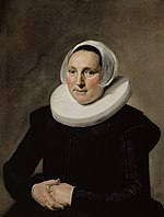 Frans Hals - Portrait of an unknown woman with clasped hands and diadem cap 1634 - 23.27.jpg