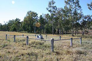 Hornet Bank massacre - Fraser family grave site, 2008