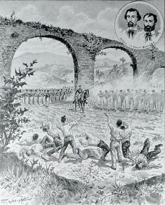 Bandiera brothers - Execution of the Bandieras