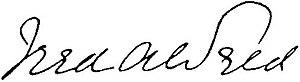 Frederick Weld - Image: Frederick Weld Signature
