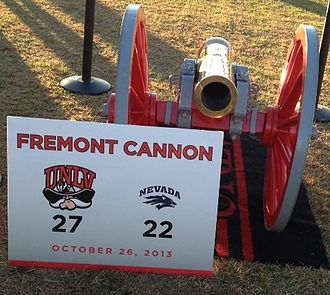 Fremont Cannon - The Fremont Cannon in 2013, painted UNLV red