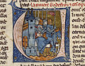 French - Initial V with Godefroy de Bouillon and Four Knights - Walters W13715R - Detail.jpg