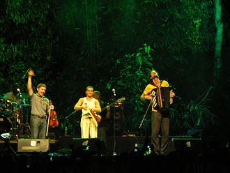 French Romani Manouche band performing during Rainforest World Music Festival 2006 French Gypsy band performing during RWMF 2006.jpg