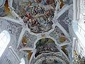 Fresko im Hauptschiff- Pfarrkirche Stams.JPG