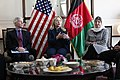 From left, U.S. Ambassador to Afghanistan Ryan Crocker and U.S. Secretary of State Hillary Rodham Clinton meet with Afghan civil society leaders at the Presidential Palace in Kabul, Afghanistan 111020-S-PA947-146.jpg