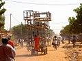 Furniture balanced on a platform trolley in Burkina Faso, 2009.jpg