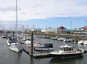 Fleetwood - Fleetwood Freeport and Marina (1995) is built on the site of the former Wyre Dock