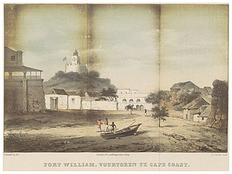 Fort William (Lighthouse) - Image: GRAMBERG(1861) p 131 FORT WILLIAM, VUURTOREN TE CAPE COAST