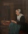 Gabriël Metsu - A Sleeping Saleswoman - KMSsp461 - Statens Museum for Kunst.jpg
