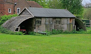English: Garden shed in Meonstoke