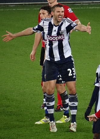 Gareth McAuley - McAuley playing for West Bromwich Albion in 2013
