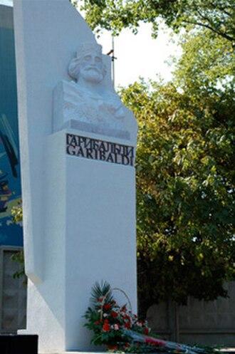 Garibaldi Monument in Taganrog - The Garibaldi Monument, Sept.12, 2007