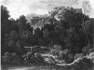 Landschaft mit Ansicht von Tivoli (Umkreis)