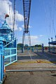 Gate and Gondola at Newport Transporter Bridge, Wales.jpg