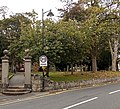 Gate piers south of Church of St Peter and St Paul, Wem.jpg