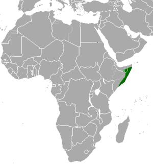 Speke's gazelle - Image: Gazella spekei map
