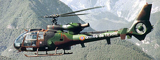 Aérospatiale Gazelle - Gazelle SA 342M of the French Army's Light Aviation (ALAT), Army's Helicopters Squadron (EHADT)