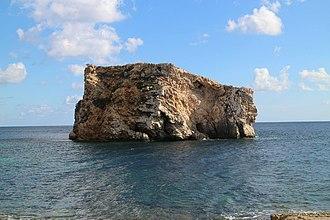 Ħalfa Rock - View of Ħalfa Rock