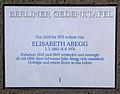 Gedenktafel Tempelhofer Damm 56 Elisabeth Abegg.JPG