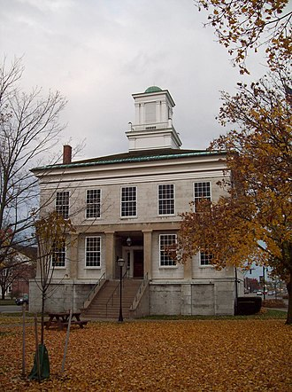 Fellows v. Blacksmith - The Genesee County Courthouse, a structure built by the Holland Land Company