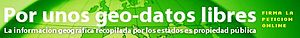 Open Knowledge International - Banner for the Geodata project in Spanish