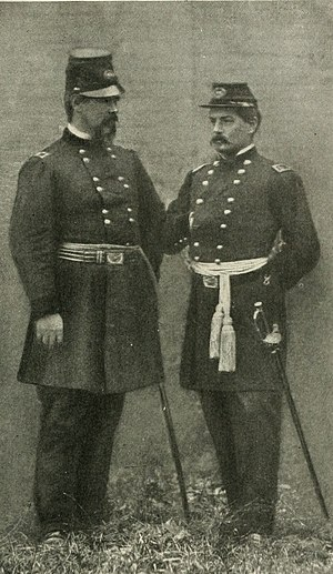 Irvin McDowell - General Irvin McDowell (left) with General George B. McClellan