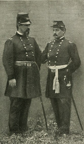 I Corps (Union Army) - Brigadier General Irvin McDowell (left) with Major General George B. McClellan.