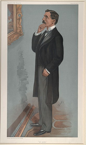 "Denison Faber, 1st Baron Wittenham - ""ex opera"". Caricature by Henry Charles Seppings-Wright published in Vanity Fair in 1900."