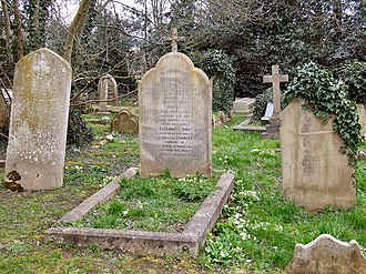 George Shillibeer - The grave of George Shillibeer in St Mary's churchyard, Chigwell, Essex.