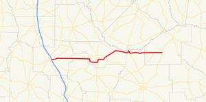 Georgia State Route 107 - Image: Georgia state route 107 map
