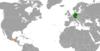 Lage von Deutschland und Guatemala