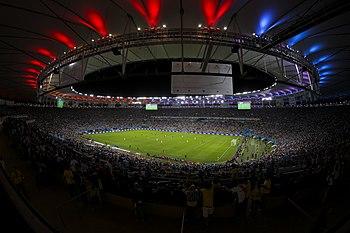 ملعب ماراكانا أثناء المُباراة النهائيَّة بين ألمانيا والأرجنتين خِلال نهائي كأس العالم لكرة القدم 2014