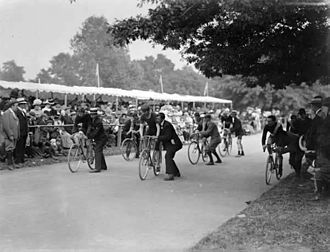 The People's Park, Waterford - Bicycle race in the People's Park, 1901