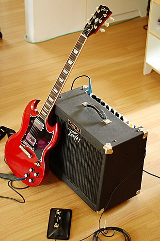 Gibson SG - A Gibson SG with a Peavey amplifier.