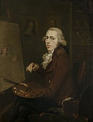 Portret van Gijsbertus Johannes van den Berg, zelfportret (1769-1817)