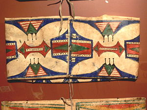 Plains hide painting - Sioux parfleche, ca. 1900, Gilcrease Museum