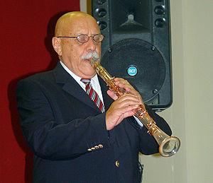Giora Feidman - Feidman playing a lucite clarinet in Jerusalem, 2006