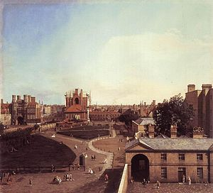 Holbein Gate - Image: Giovanni Antonio Canal, il Canaletto London Whitehall and the Privy Garden from Richmond House WGA03943