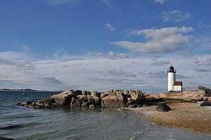 Annisquam Harbor Light - Image: Gloucester MA Annisquam Light 2