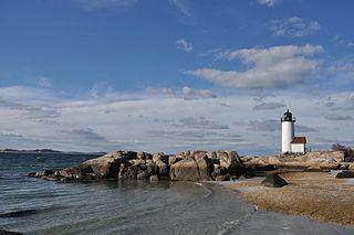 Annisquam Harbor Light lighthouse in Massachusetts, United States